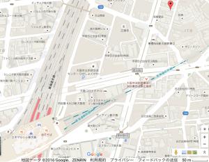 東淀川教会へ新大阪から地図